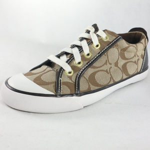 Like New COACH Barrett Coach Gold Sneakers Sz 6.5B